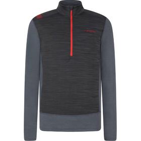La Sportiva Rook Maglietta a maniche lunghe Uomo, carbon/poppy